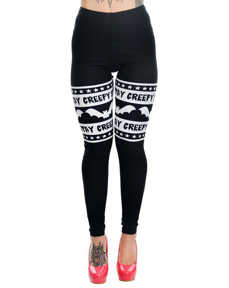 Stay Creepy - Addicted Leggings by Too Fast Clothing/Rat Baby - SALE