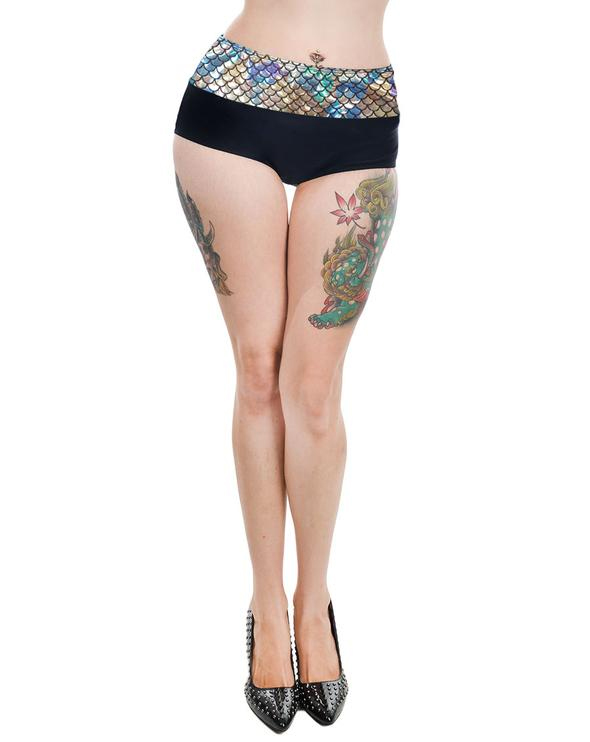 Holographic Mermaid Wendy Retro Pin Up Bikini BOTTOM by Too Fast Clothing - SALE