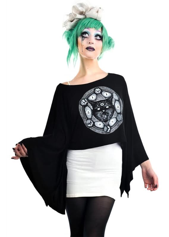 Coven Cape Top by Rat Baby/Too Fast Clothing - Cat-A-Gram