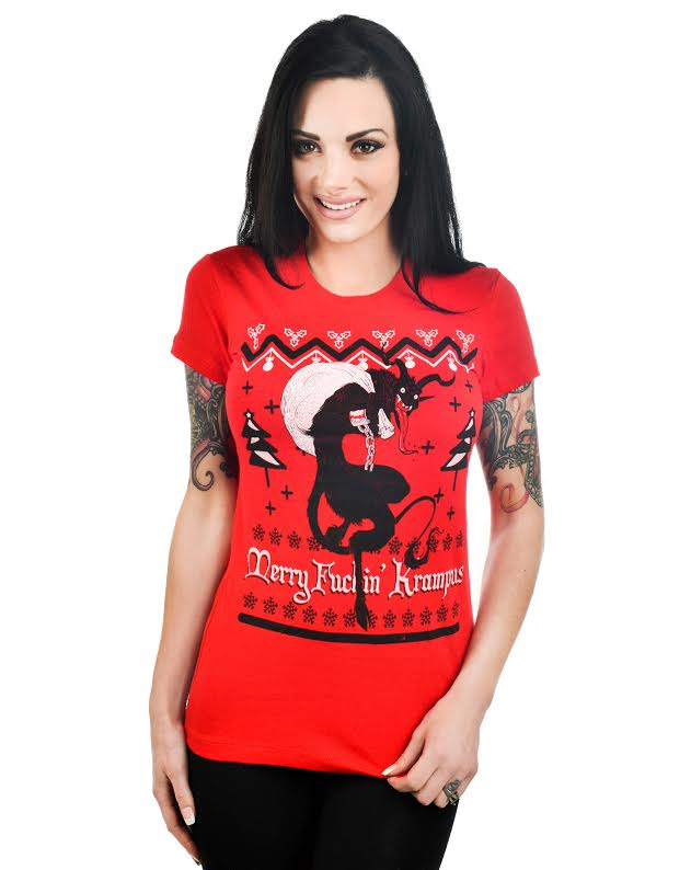 Babydoll Shirt by Too Fast Clothing- Krampus - SALE sz S & L only