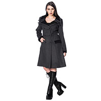Nosferatu Bat Wing Black Coat by Banned Apparel