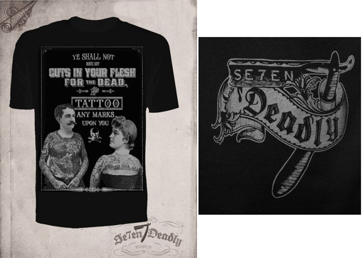 Tattoos for the Dead Guys t-shirt by Se7en Deadly - SALE