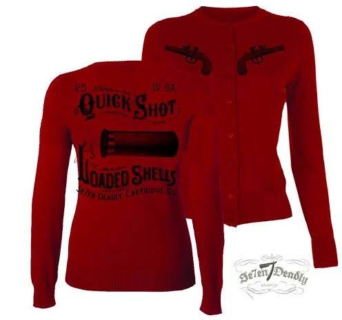 Quickshot Red Cardigan by Se7en Deadly