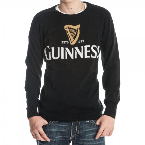 Guinness- Logo on a black knit sweater (Sale price!)