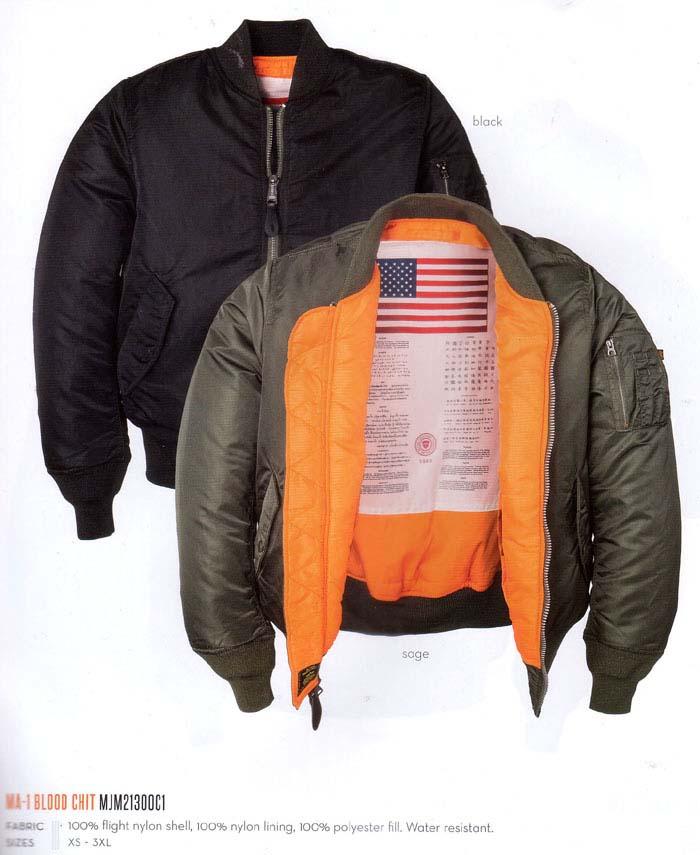 ma 1 blood chit flight jacket by alpha industries. Black Bedroom Furniture Sets. Home Design Ideas
