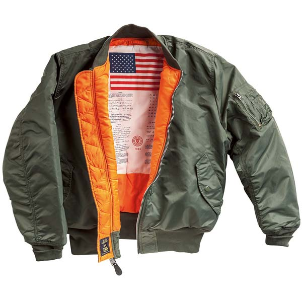 MA-1 Blood Chit Flight Jacket by Alpha Industries