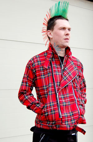Zip Jacket by Tiger Of London- RED PLAID
