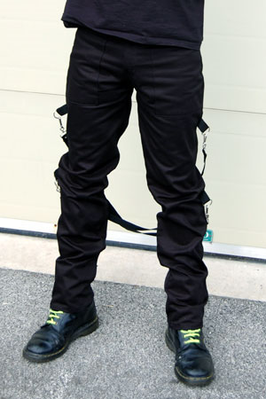 UK 2 Strap Bondage Pants by Tiger Of London- BLACK