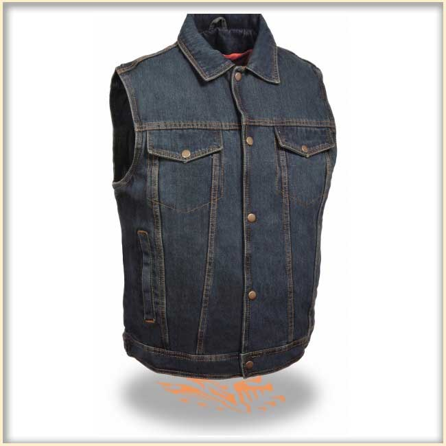 07d1c266717a8a Denim Vest by Milwaukee Leather- Blue