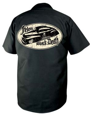 Black Death Short Sleeve Workshirt by Felon - SALE sz S only