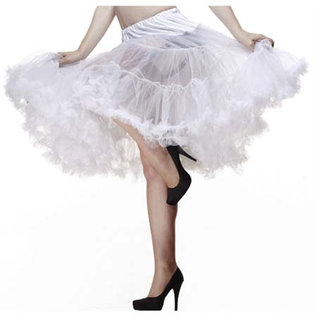 "Long White 25"" Petticoat by Hell Bunny"