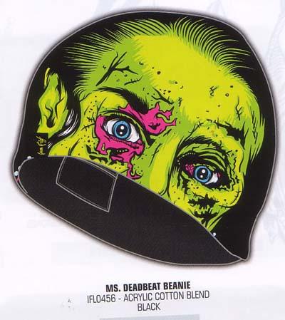 Ms Deadbeat beanie by Iron Fist