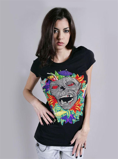 Ladies Zombietini Tee by Iron Fist  - SALE sz M only