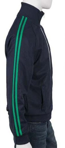 96e4400cd Fred Perry Twin Striped Track Jacket- CARBON BLUE/FERN GREEN (Sale price!)