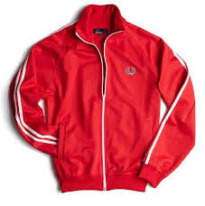 4968d1724 Fred Perry Twin Striped Track Jacket- RED/WHITE - Sale - sz S only