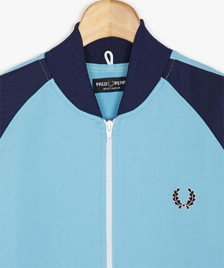 Fred Perry Bomber Track Jacket- ALASKAN BLUE (Sale price!)