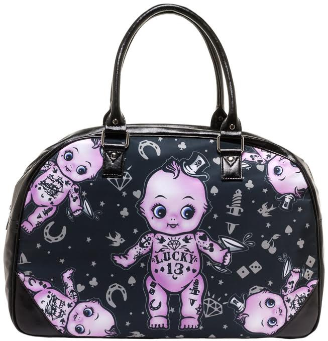Kewpie Doll Travel Bag by Lucky 13 - SALE