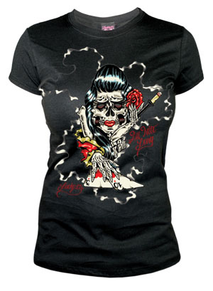 All Nite Long girlfriend shirt by Lucky 13 - SALE sz M only