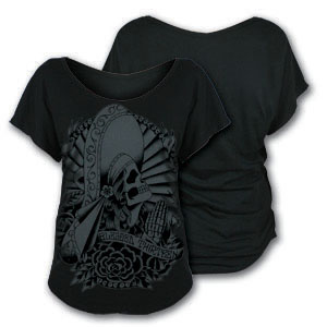 Blessed 13 Muerte Micro Modal Raglan Shirt by Lucky 13  - SALE sz S only