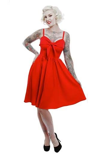 Lucille Swing Dress by Lucky 13 - in red