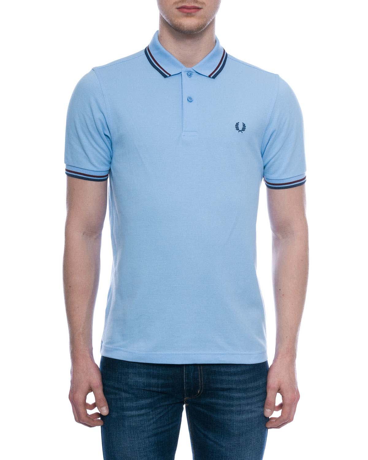 fred perry classic fit twin tipped polo shirt sky blue. Black Bedroom Furniture Sets. Home Design Ideas