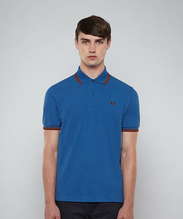 fred perry classic fit twin tipped polo shirt imperial. Black Bedroom Furniture Sets. Home Design Ideas