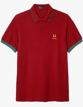 5f625aa6b Fred Perry 2014 World Cup Polo Shirt- PORTUGAL (Blood) - sz S only