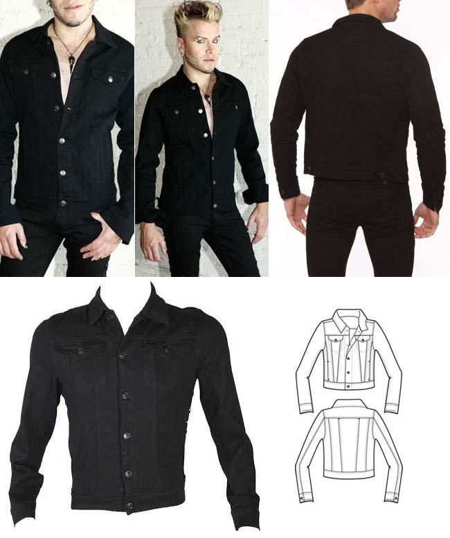 Stretch Denim Jacket by Lip Service - sz 2X only