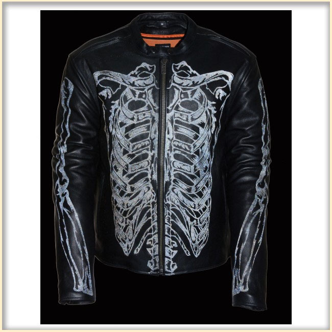 Reflective Skeleton Scooter Jacket by Milwaukee Leather