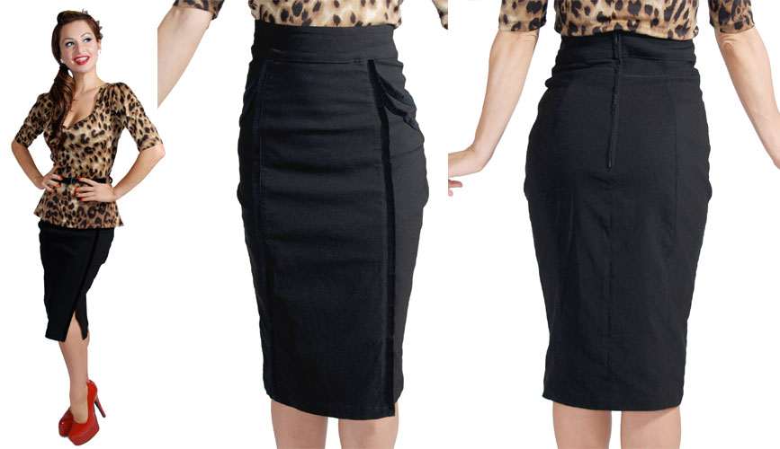 Sweet Velvet Pencil Skirt By Steady  - SALE sz L only