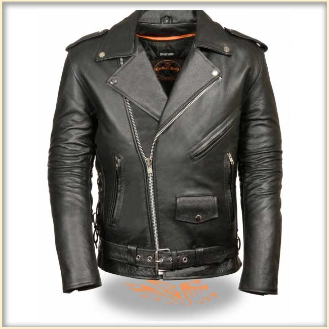 High Quality Side Lace Motorcycle Jacket by Event Leather