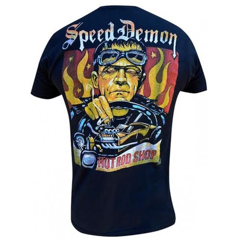 Speed Demon guys slim fit shirt by Low Brow Art Company - artist Mike Bell