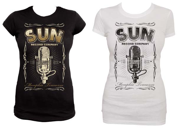 Sun Records-  Girl's Tee w Antique Microphone by Steady Clothing - SALE