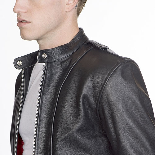 Offender Leather Jacket in BLACK by Straight To Hell (Sale price!)