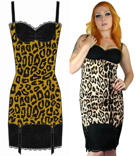 piper leopard garter belt dress by fast clothing