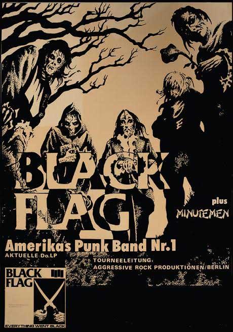 Black Flag German Show Poster Fine Art Print By Annex
