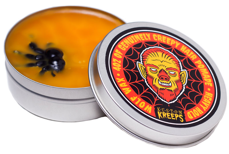 Kustom Kreeps Creepy Wolf Pomade- Heavy Hold (Wood Scent)