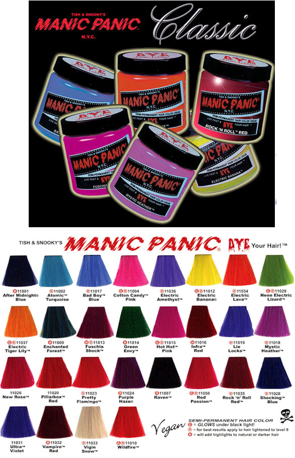 Manic Panic Hair Dye Angry Young And Poor