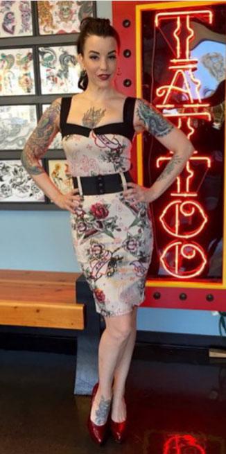 Love Darling Dress by Switchblade Stiletto - Tattoo Flash Print