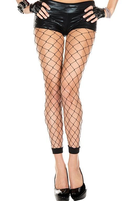 Spandex Diamond Net Leggings in BLACK