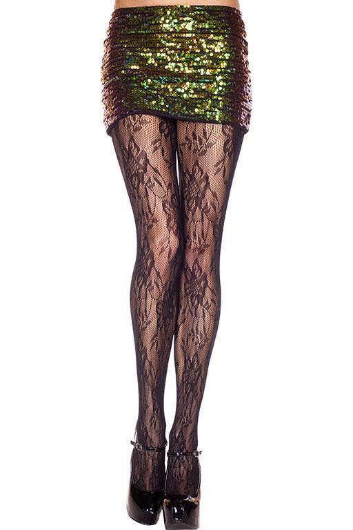 Vintage Lace Spandex Pantyhose