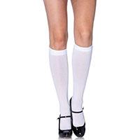 Nylon Knee Socks -  White