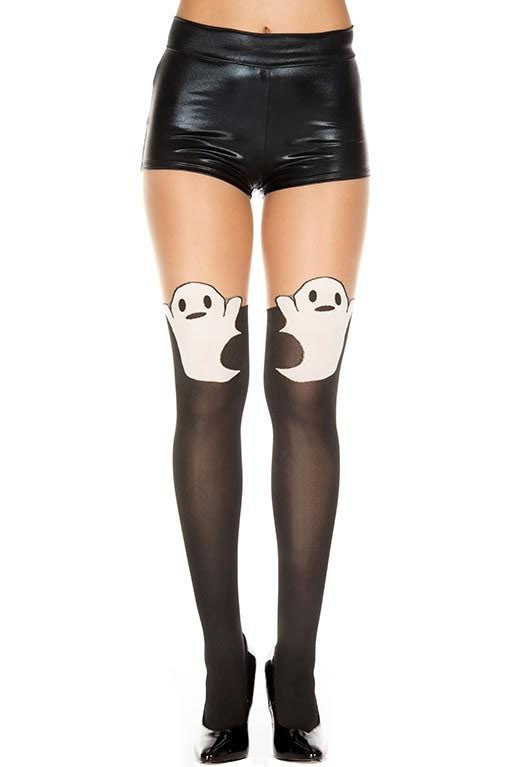 Ghost Faux Thigh HIgh Spandex Pantyhose