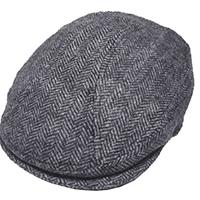 Grey Herringbone Scally Cap by New York Hat Co.
