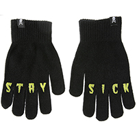 Stay Sick Knit Gloves by Sourpuss