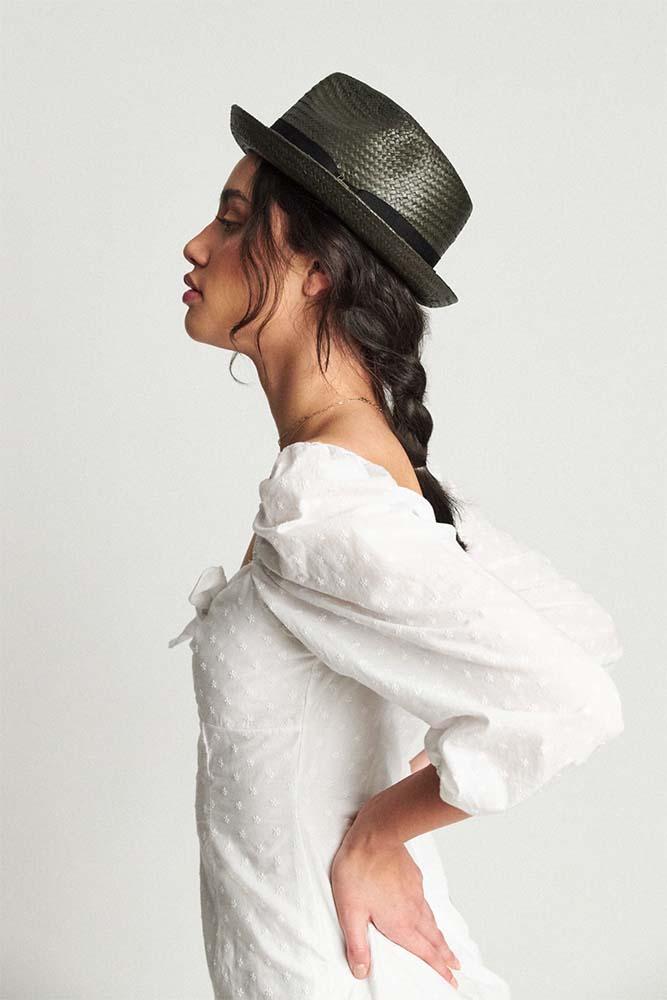 ef15e7ba592b4 Castor Straw Hat by Brixton- WASHED BLACK. »