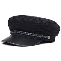 Fiddler Hat by Brixton- BLACK/BLACK LEATHER