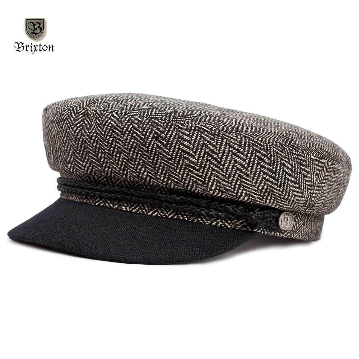 Fiddler Hat by Brixton- HEATHER GREY / BLACK