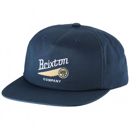 Maverick Snap Back Hat by Brixton- NAVY (Sale price!)