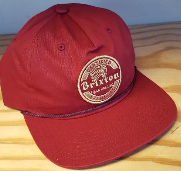 Soto Snap Back Hat by Brixton- BURGUNDY (Sale price!)